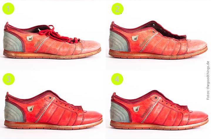 Schuhaufbereitung in 3 Schritten